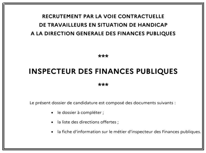 Inspecteur des finances publics