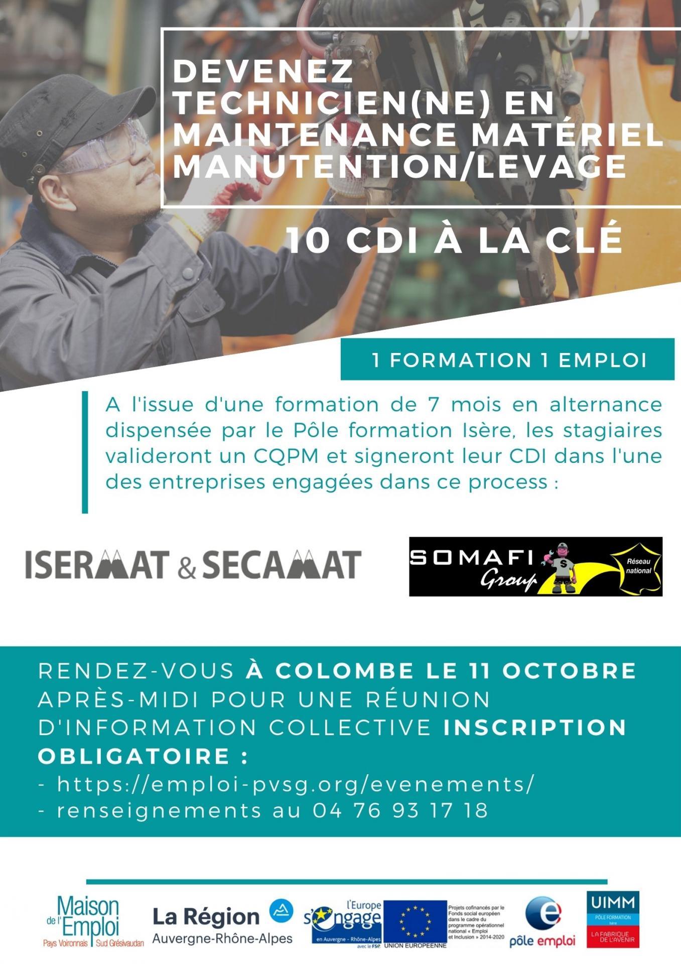 Affiche tech maintenance engin levagemanutention colombe