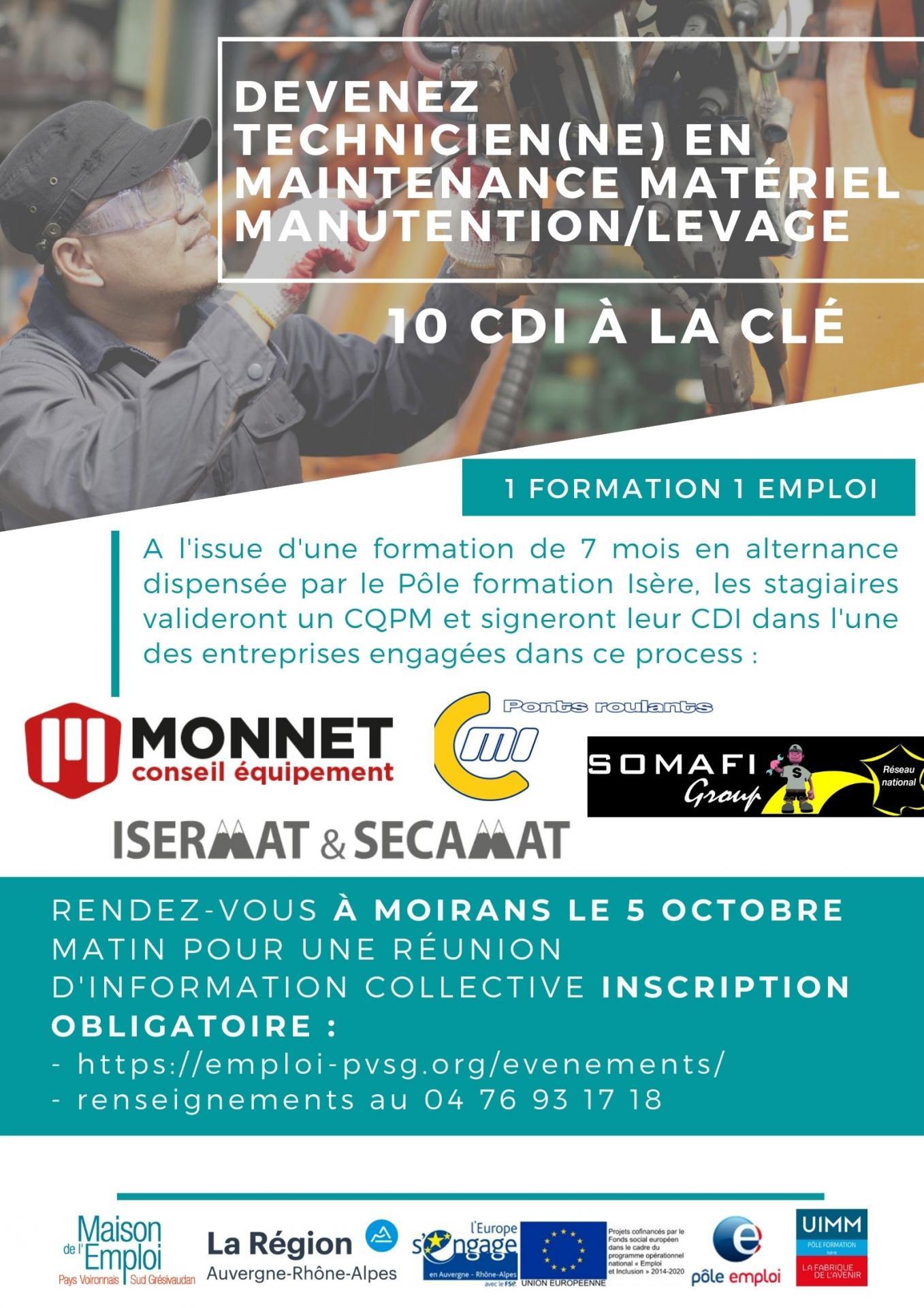 Affiche tech maintenance engin levagemanutention moirans