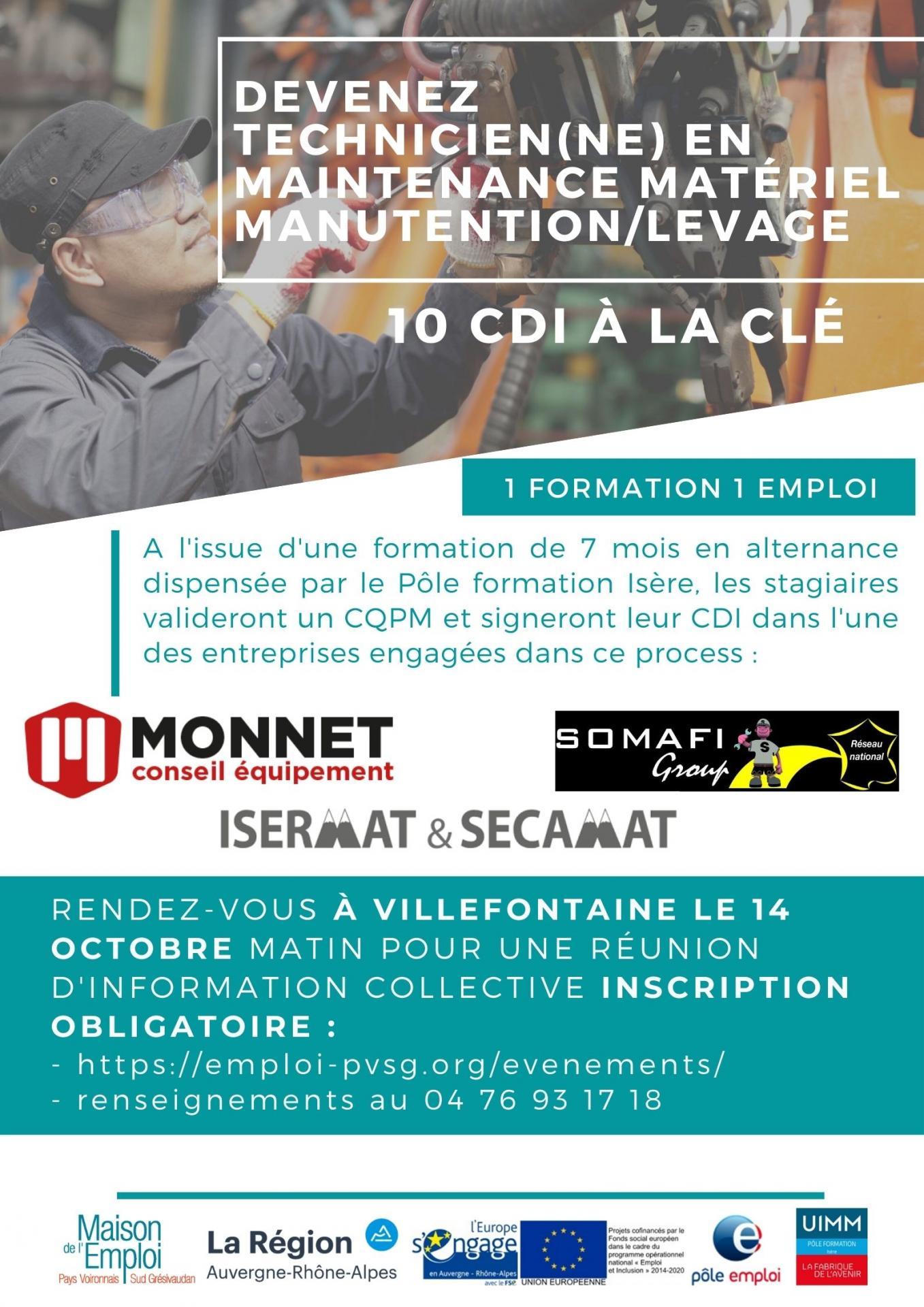 Affiche tech maintenance engin levagemanutention
