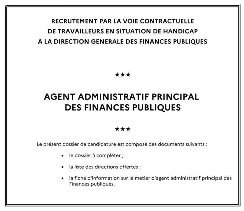 Agent administratif principal des finances publiques