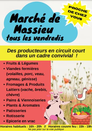 Le marché à Massieu, c'est vendredi !