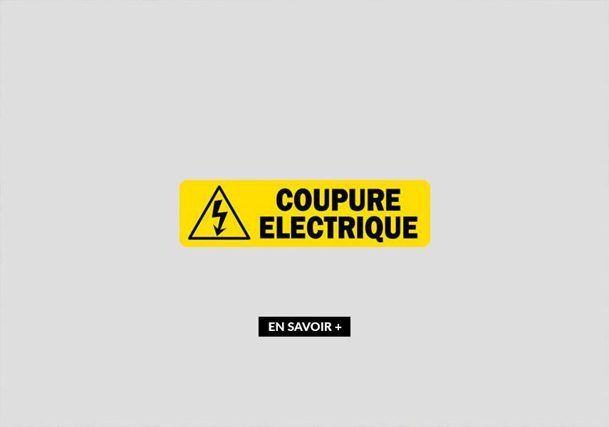 Coupure d'électricité prévue le Mercredi 28/10/2020 entre 08h30 et 14h !